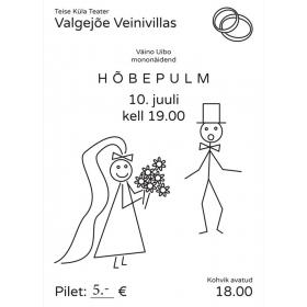 """Teatrietendus - mononäidend """"Hõbepulm"""" 10.07"""