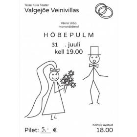 """Teatrietendus - mononäidend """"Hõbepulm"""" 31.07"""